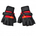 SW1002 Tactical Half-finger Gloves - Black + Red (XL)