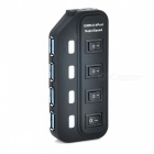 Portátil SuperSpeed ​​USB 3.0 4-Port Hub w / interruptor independente