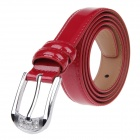 JACTOZ G-170 Fashionable Second Layer Cowhide Women's Waist Belt w/ Zinc Alloy Buckle - Red