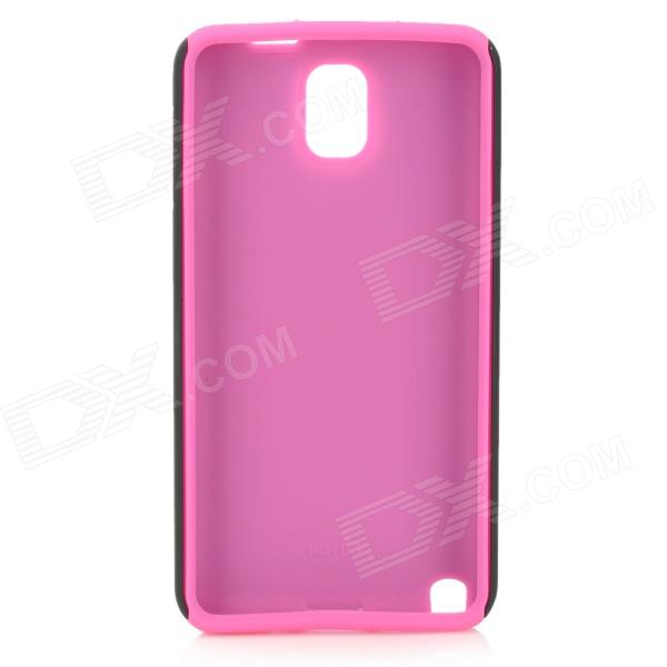Protective Matte Plastic + Silicone Back Case for Samsung Galaxy Note 3 N9000 - Deep Pink + Black pannovo silicone shockproof fallproof dustproof case for samsung galaxy note 3 camouflage green