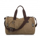 Fashionable Men's Canvas Shoulder Messenger Bag - Khaki