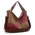 New Style Fashionable Hit Color Multifunction Canvas Messenger - Red + Brown