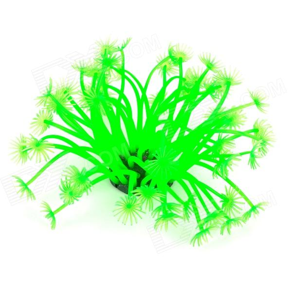E5QL 188 Aquarium Decorative Lifelike Artificial Soft Water Plants - Green + Black