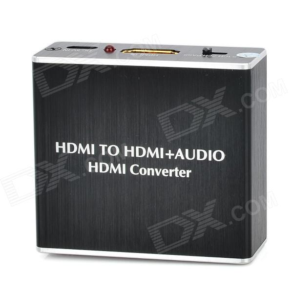HDMI to HDMI + Audio HDMI Converter - Black
