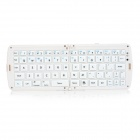 Convenient Folding 66-key Bluetooth Keyboard for Tablet PC / Cellphone - White