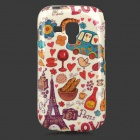 Eiffel Tower + Car Pattern Protective TPU Back Case for Samsung Galaxy Trend Duos S7562 / S7560
