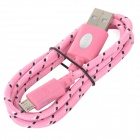 IKKI USB 2.0 to Micro USB Charging / Data Braided Cable for Motorola Moto G / DVX - Pink (100cm)
