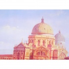 Venice Pattern Linen Oil Painting - Multicolored