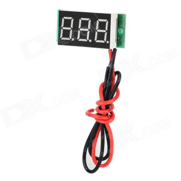 "0.36"" Red LED Digital Fine Tuning DC Voltmeter w/ Reverser Protection (2.4~30V)"