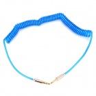 B003 3.5mm Male to Male Spring Audio Cable - Blue