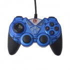 DILONG PU309 Dual-shock USB Vibration Gamepad Game Controller of PC Games - Blue + Black (170cm)