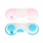 Baby Infant Child Multi-Function Rotatable Drawer Safety Locks - Blue + Pink (2 PCS)