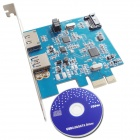 WBTUO PCI-Express USB 3.0 Adapter Card COMBO USB 3.0 + eSATA + SATA 3.0 Carte d'extension pour PC de bureau
