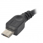 B002 Universal USB Female to Micro USB Male Charging / Data OTG Cable - Black (11cm)