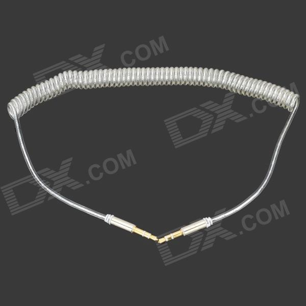 B300 3.5mm Male to Male Spring Audio Cable - White (43cm)Audio And Video Cables<br>Form  ColorWhiteModelB300MaterialPC + copperQuantity1 DX.PCM.Model.AttributeModel.UnitShade Of ColorWhiteCable Length43 DX.PCM.Model.AttributeModel.UnitConnector GenderMale to MaleConnector3.5mmOther FeaturesExtended length: 2m; Suitable for PSP, MP3, MP4, Cellphone, speaker, etc.Packing List1 x Cable<br>