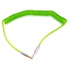 3.5mm Male to Male Spring Audio Cable - Green