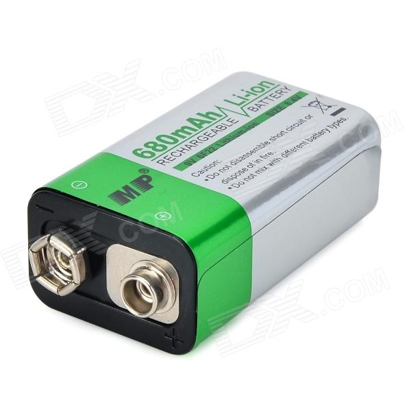 MP 9V 680mAh Li-ion Rechargeable Battery in 528095 7 4v with 5000 ma lithium polymer battery protection board gps mobile dvd microphone rechargeable li ion cell