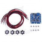 RC LED Flashing Light/Night Light w/ LED Board and LED Extension Wire for Quadcopter (4 PCS)