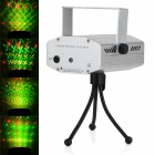 CR 08 Twelve Patterns 50mW Green + 100mW Red Laser Stage Lighting Projector w/ Tripod - Silver