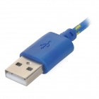 IKKI USB 2.0 to Micro USB Charging / Data Braided Cable for Motorola Moto G / DVX - Blue (100cm)