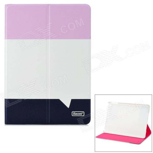 iSecret ICLCIP503PBC Protective PU Leather + PC Case w/ Auto Sleep for IPAD AIR - Pink + Blue