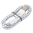 IKKI USB 2.0 to Micro USB Charging / Data Braided Cable for Motorola Moto G / DVX - White (100cm)