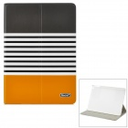 iSecret ICLCIP502GYC Protective PU Leather + PC Case w/ Auto Sleep for IPAD AIR - Yellow + White