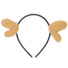 SHIYING B021 Cute Sika Deer Horn Style Ornament Hair Band - Khaki + Black