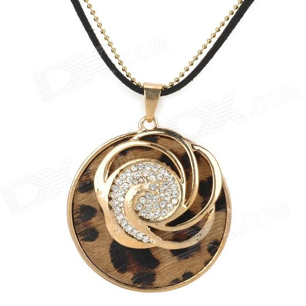 UBE UTY 7039 Stylish Rhinestone Inlaid Phoenix Pendant Necklace - Black + Rose Gold sinix sinix 7039