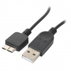 USB 2.0 Female to Micro USB 3.0 9pin Male / USB Male OTG Cable for Samsung - Black (12cm / 25cm)