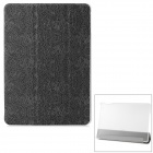 Dragon Pattern Protective PU + Plastic Case w/ Stand / Auto Sleep for IPAD AIR - Black + Transparent