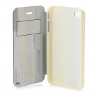 HELLO DEERE Protective PU Case w/ Stand for IPHONE 4 / 4S - White