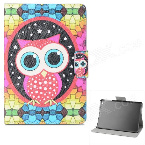 Owl Pattern PU + ABS Case w/ Stand / Auto-Sleep for Retina IPAD MINI / IPAD MINI 1 - Multicolored