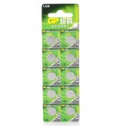 GP LR44 A76 1.5V Cell Button Batteries 10-Pack
