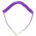 B003 3.5mm Male to Male Spring Audio Cable - Purple