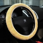 B011 Fashionable Protective Fleece Steering Wheel Cover - Yellow