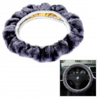 B009 Fashionable Protective Fleece Steering Wheel Cover - Grey