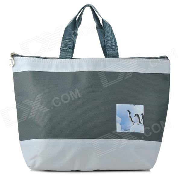 Creeper Oxford Lunch Picnic Insulation Bag - Grey 2015 milan 5000lm fanless 5000lm 6000lm 40w fish tail 6000k 881 led for all car freeshipping mmm