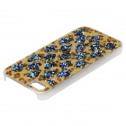 Protective Plastic Back Case w/ Rhinestones for IPHONE 5 / 5S - Leopard + Multicolored