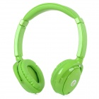 Syllable G01-004 Fashion Bluetooth v3.0 Music Headphones w/ Microphone - Green
