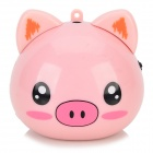 RX-Q1 Cute Pig Shaped Portable Speaker w/ FM Radio / TF Slot