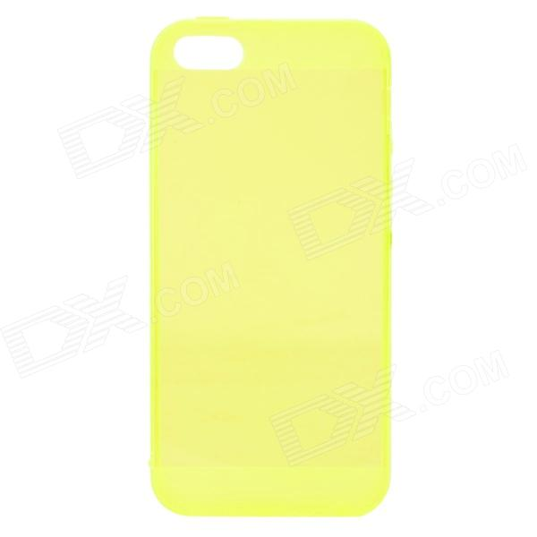 Protective Silicone Back Case for IHPONE 5 / 5S - Translucent Yellow protective silicone case for nds lite translucent white