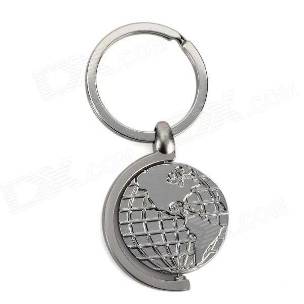 Stylish 360 Degree Rotational Zinc Alloy Keychain - Silver