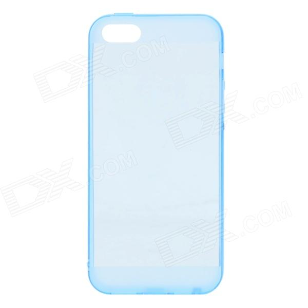 Protective Silicone Back Case for IPHONE 5 / 5S - Translucent Blue protective silicone case for nds lite translucent white