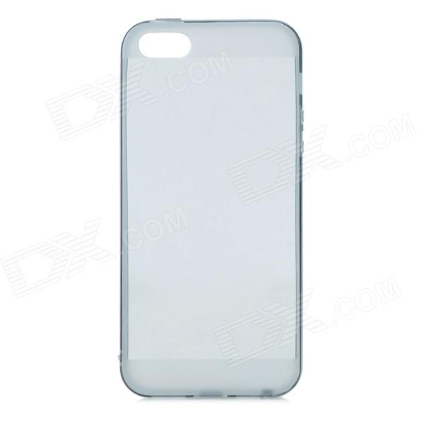 Protective Silicone Back Case for IHPONE 5 / 5S - Translucent Black protective silicone case for nds lite translucent white
