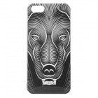 Zebra Pattern Protective Plastic Back Case for IPHONE 5 / 5S - White + Black