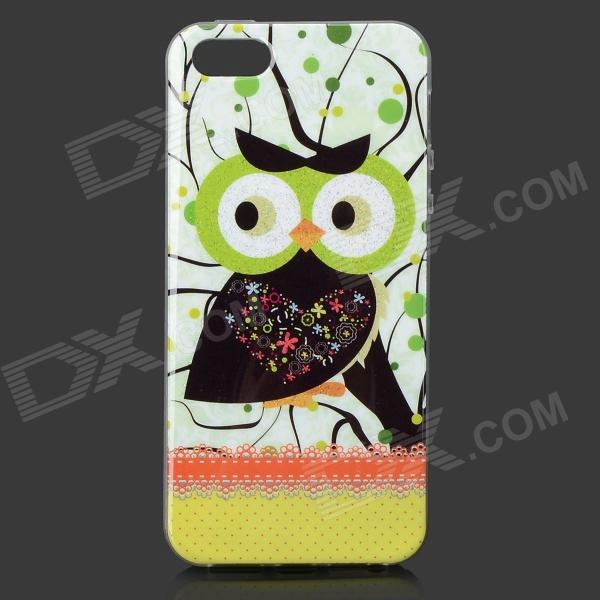 все цены на Owl Pattern Protective Plastic Back Case for IPHONE 5 / 5S - Green + Multicolored онлайн