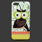 Owl Pattern Protective Plastic Back Case for IPHONE 5 / 5S - Green + Multicolored