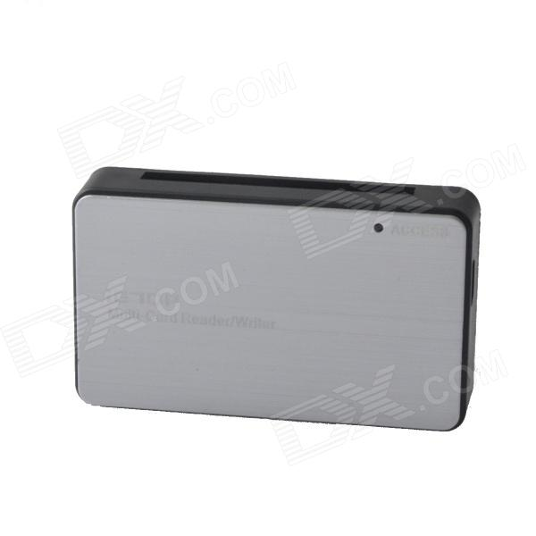 C2-08 High Speed 480Mbps USB 2.0 Multi-Card Reader / Write - Grey + Black (Max. 64GB)
