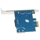 WBTUO LT103 PCI-E USB + 20-Pin Expansion Card for Desktop - Blue